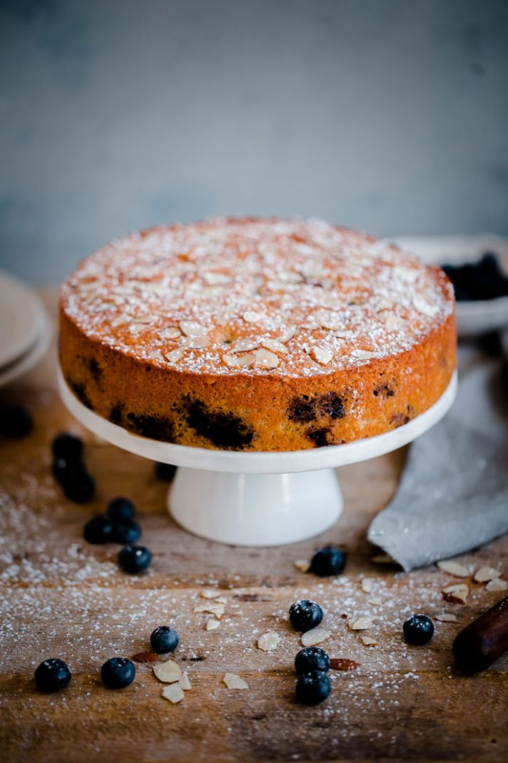 Blueberry Almond Tea Cake - Cake Recipes Almond Meal