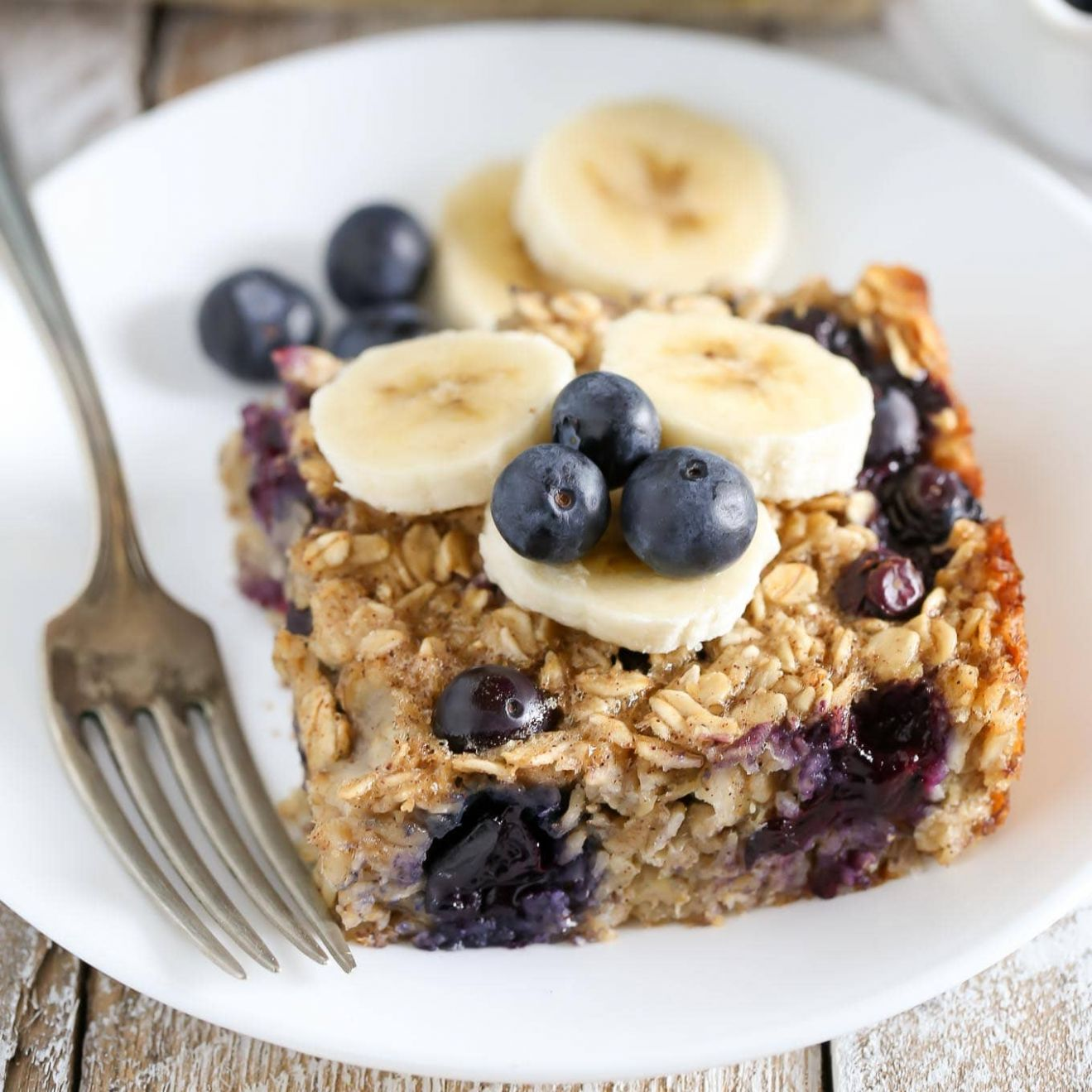 Blueberry Banana Baked Oatmeal - Breakfast Recipes With Bananas