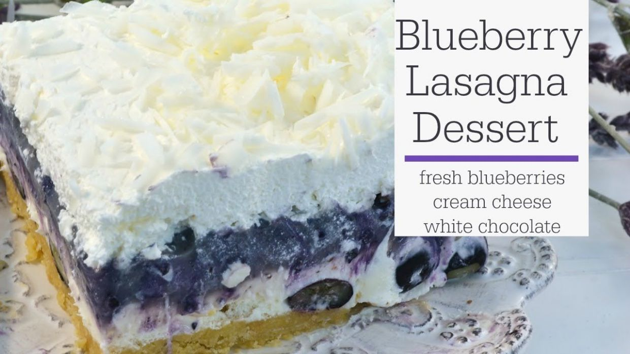Blueberry Lasagna - No Bake Dessert Recipe - RadaCutlery.com