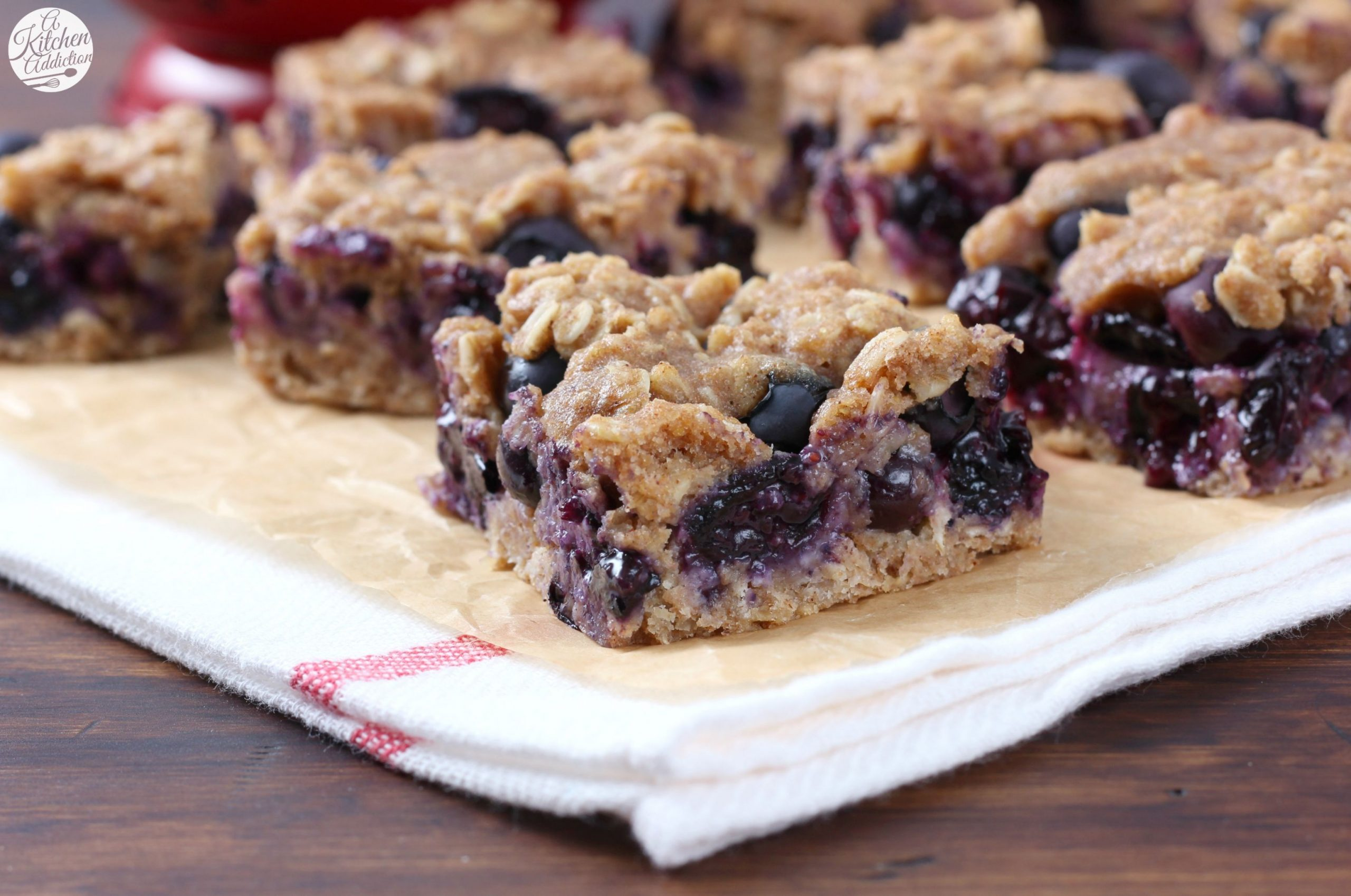 Blueberry Oat Snack Bars - Healthy Recipes With Blueberries