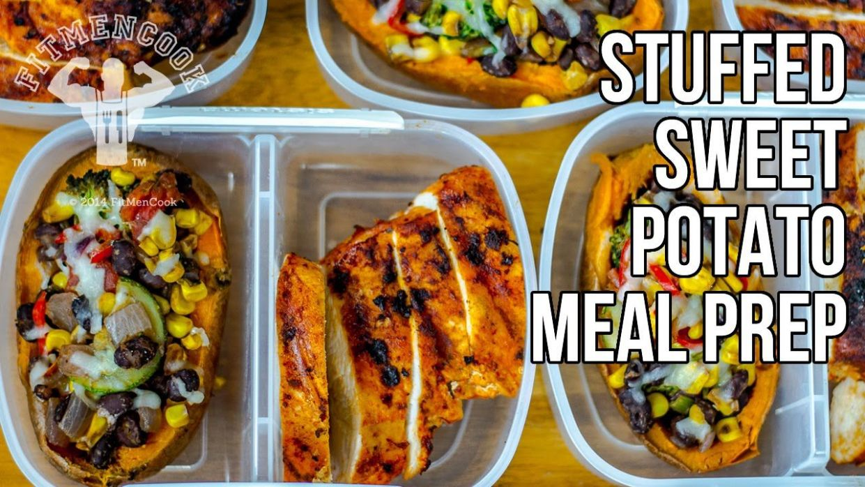 Bodybuilding Meal Prep Stuffed Sweet Potatoes / Batatas Rellenas ..