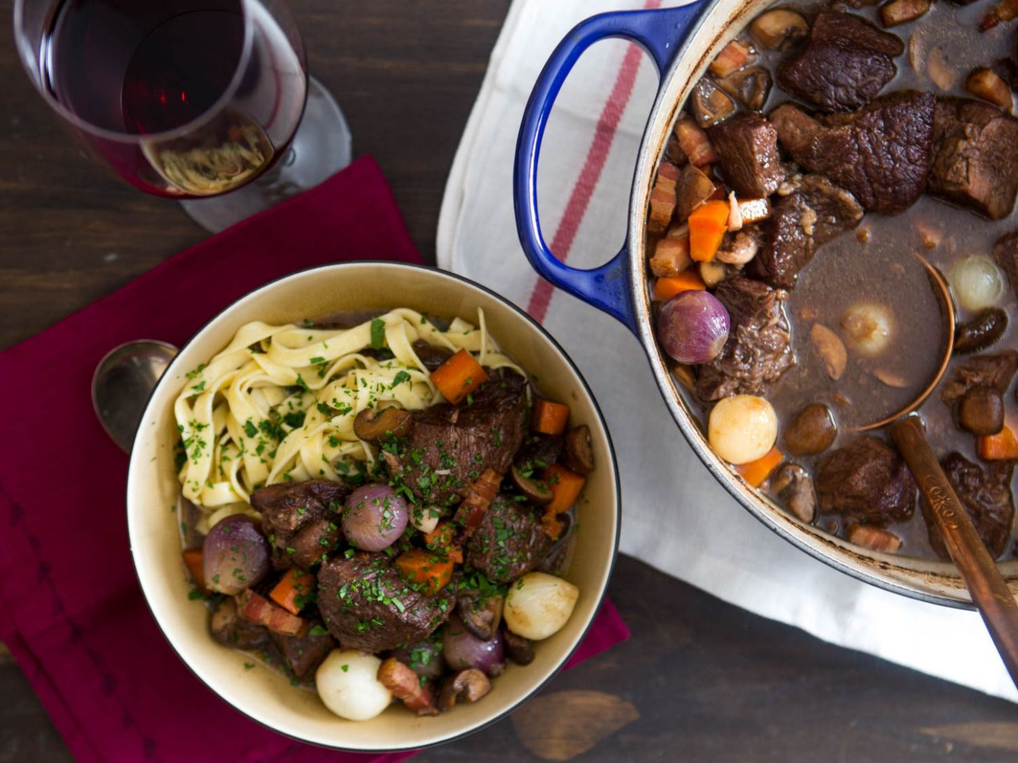 Boeuf Bourguignon (Beef Stew With Red Wine, Mushrooms, and Bacon) Recipe - Recipes Beef In Red Wine