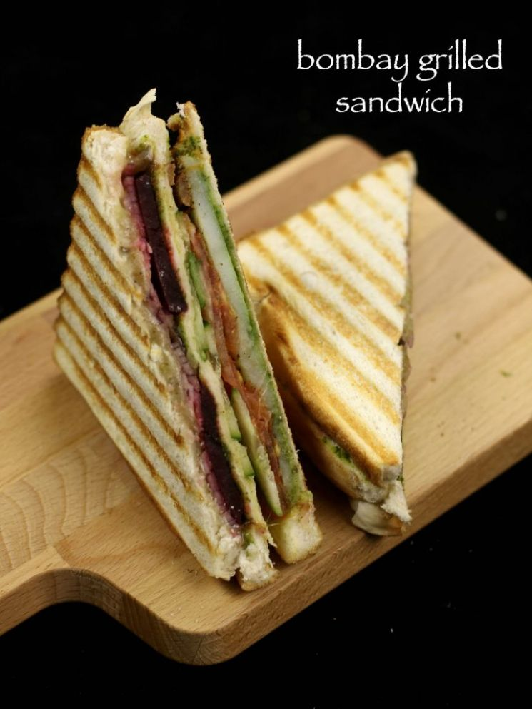 bombay veg grilled sandwich recipe | vegetable grilled sandwich recipe