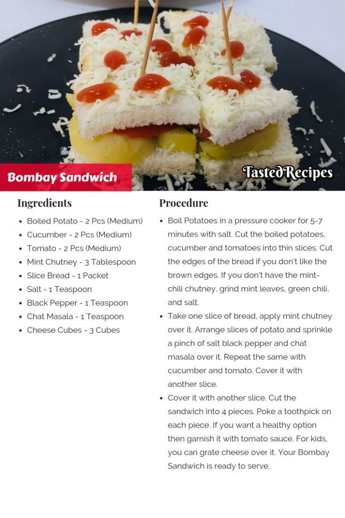 Bombay Veg Sandwich – Bombay Sandwich - Sandwich Recipes With Ingredients And Procedure