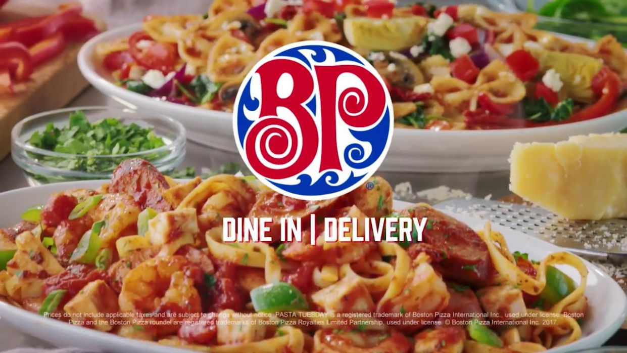 Boston Pizza's Gourmet Pastas