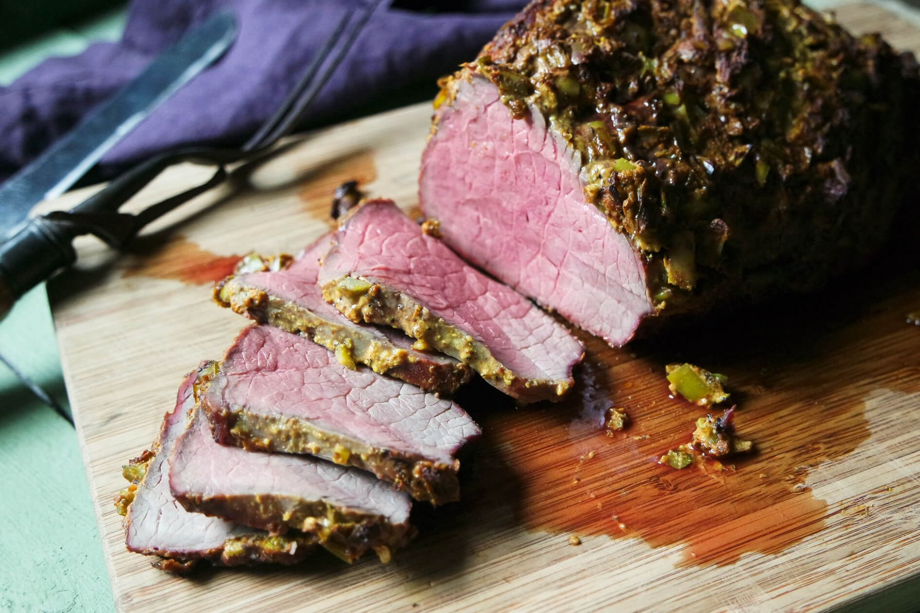 Bottom Round Roast Beef with Hatch Chile Crust - Recipes Beef Bottom Round Roast