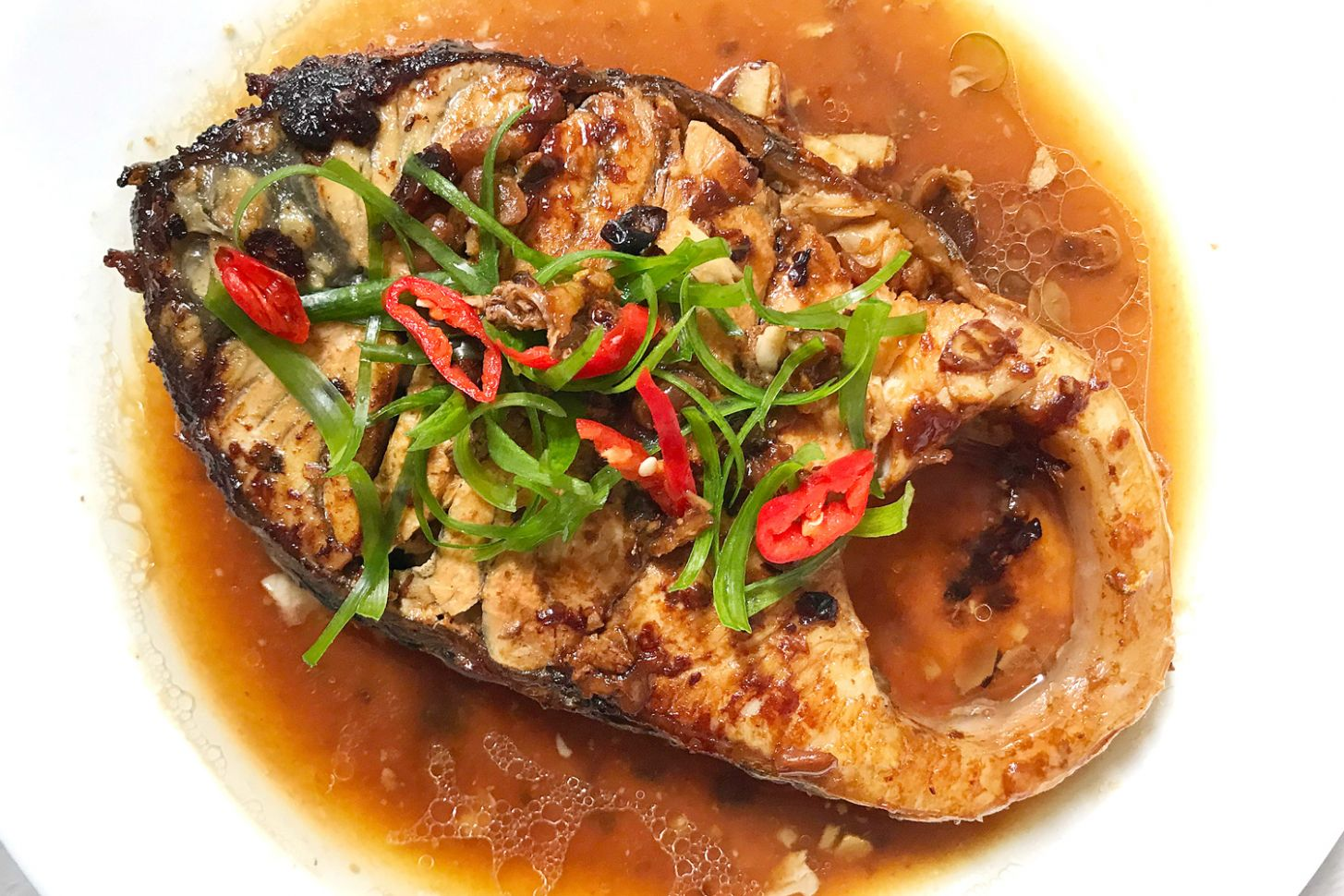 Braised Fish Fillet with Soy Bean Paste - Recipe Fish Steak