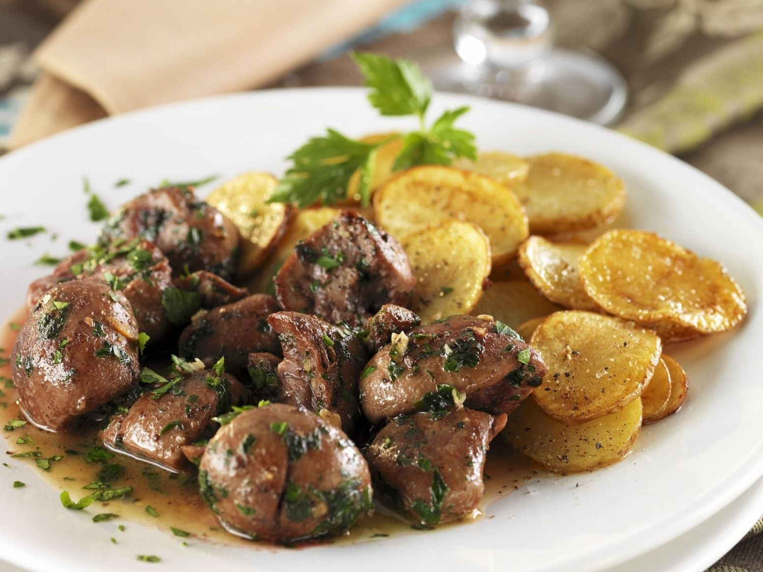 Braised Pork Kidney with Fried Potatoes