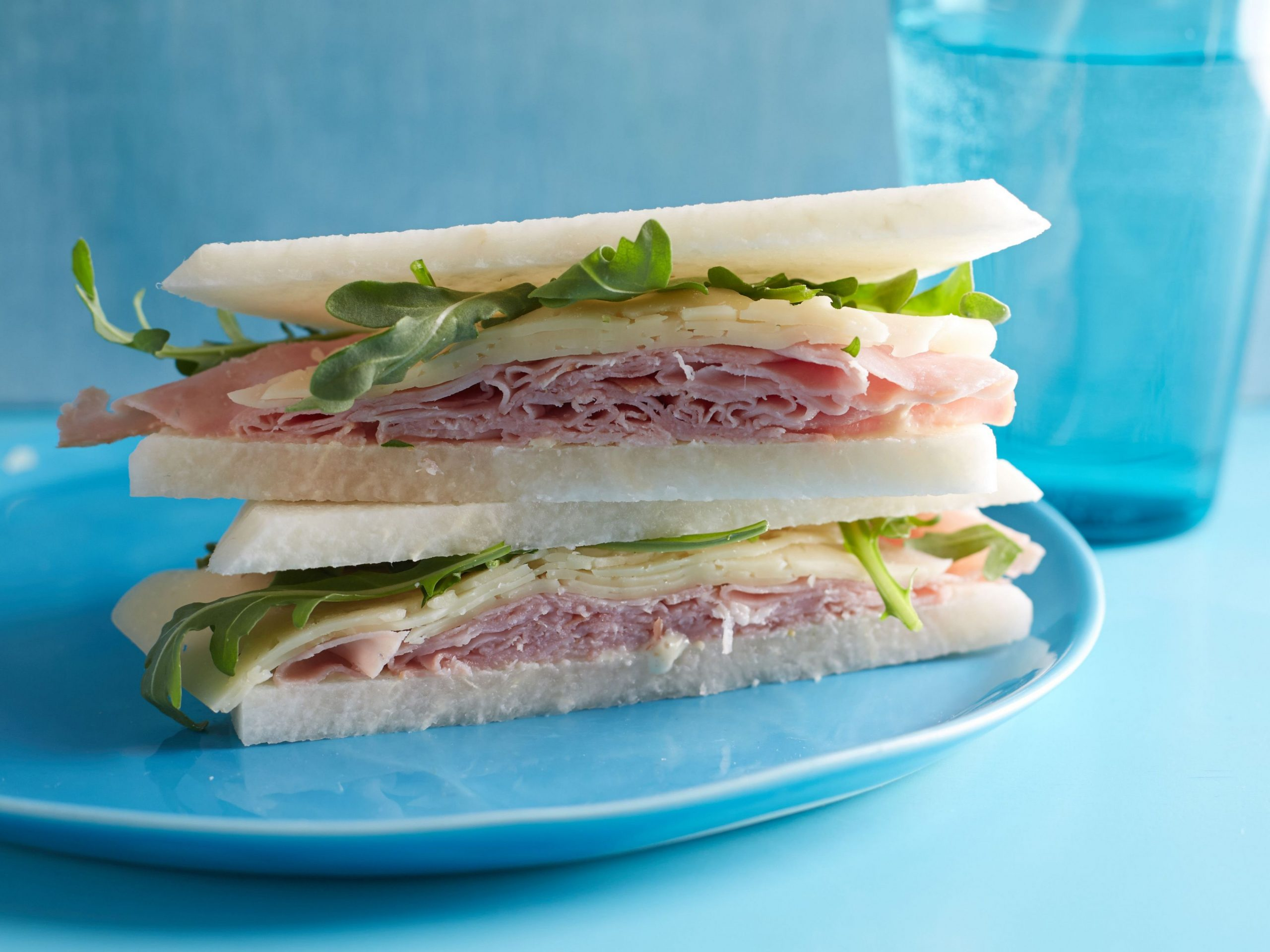 Breadless Ham and Cheese Sandwiches - Sandwich Recipes Food Network
