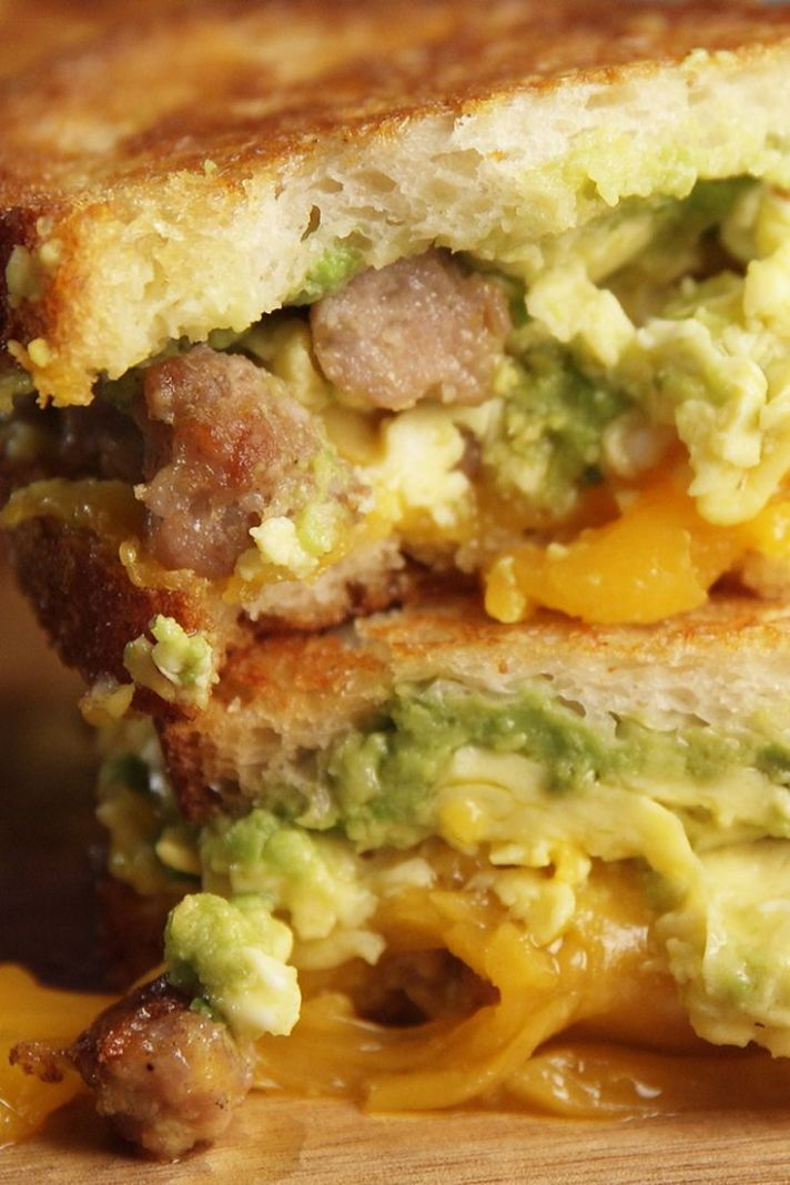 Breakfast Grilled Cheese - Breakfast Recipes Delish