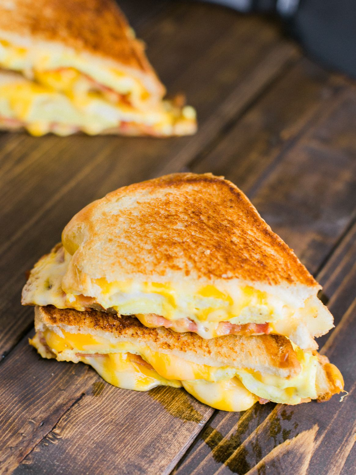 Breakfast Grilled Cheese Sandwich - Breakfast Recipes Made From Bread