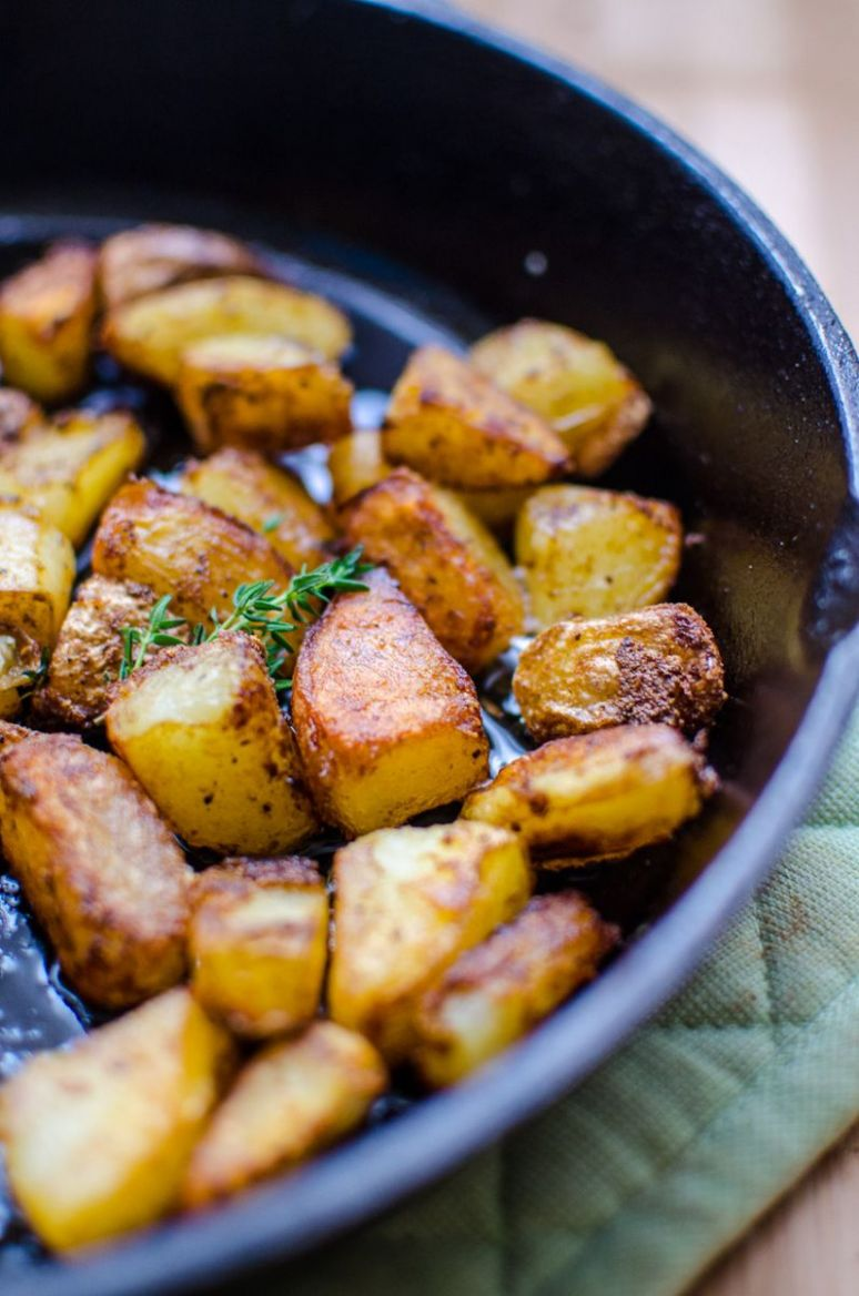 Breakfast potatoes - boiled first, fried in duck oil | down home ...