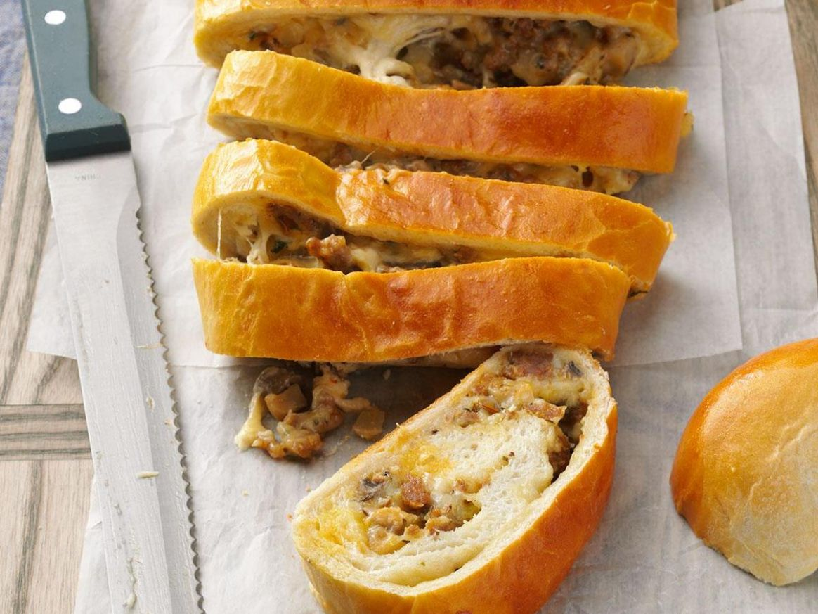 Breakfast Sausage Bread - Breakfast Recipes Made From Bread