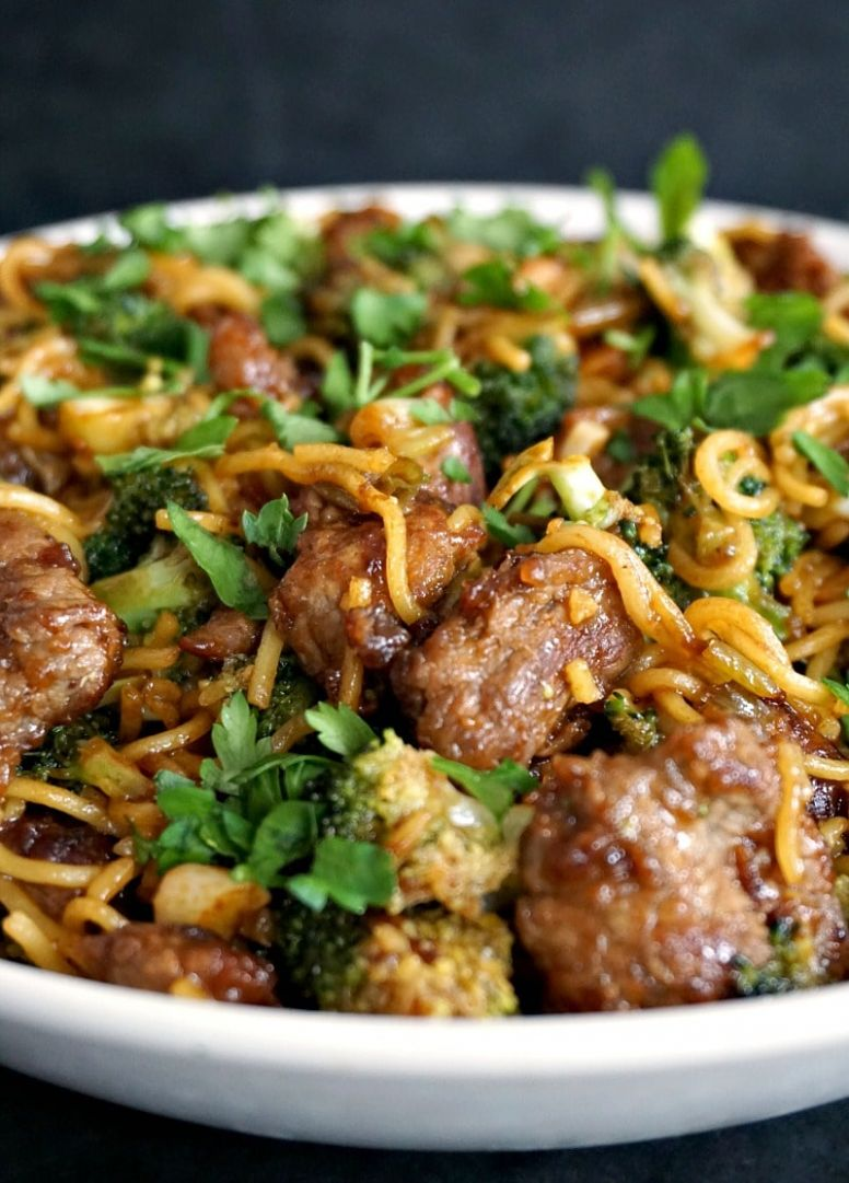 Broccoli and Beef Noodles Stir Fry - Recipes Beef Strips
