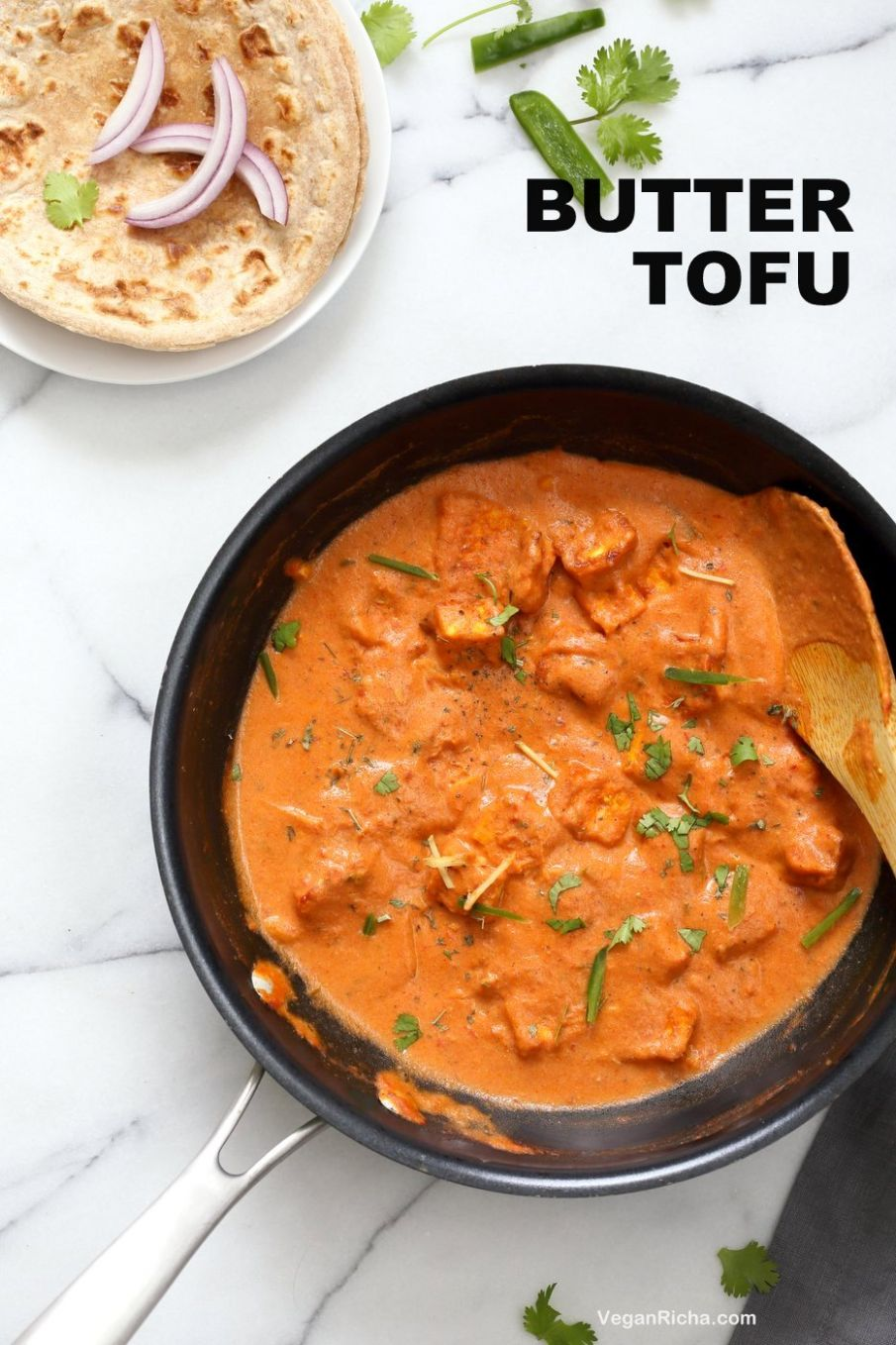 Butter Tofu Paneer - Restaurant Style Tofu Butter Masala Recipe - Vegetarian Recipes Of India