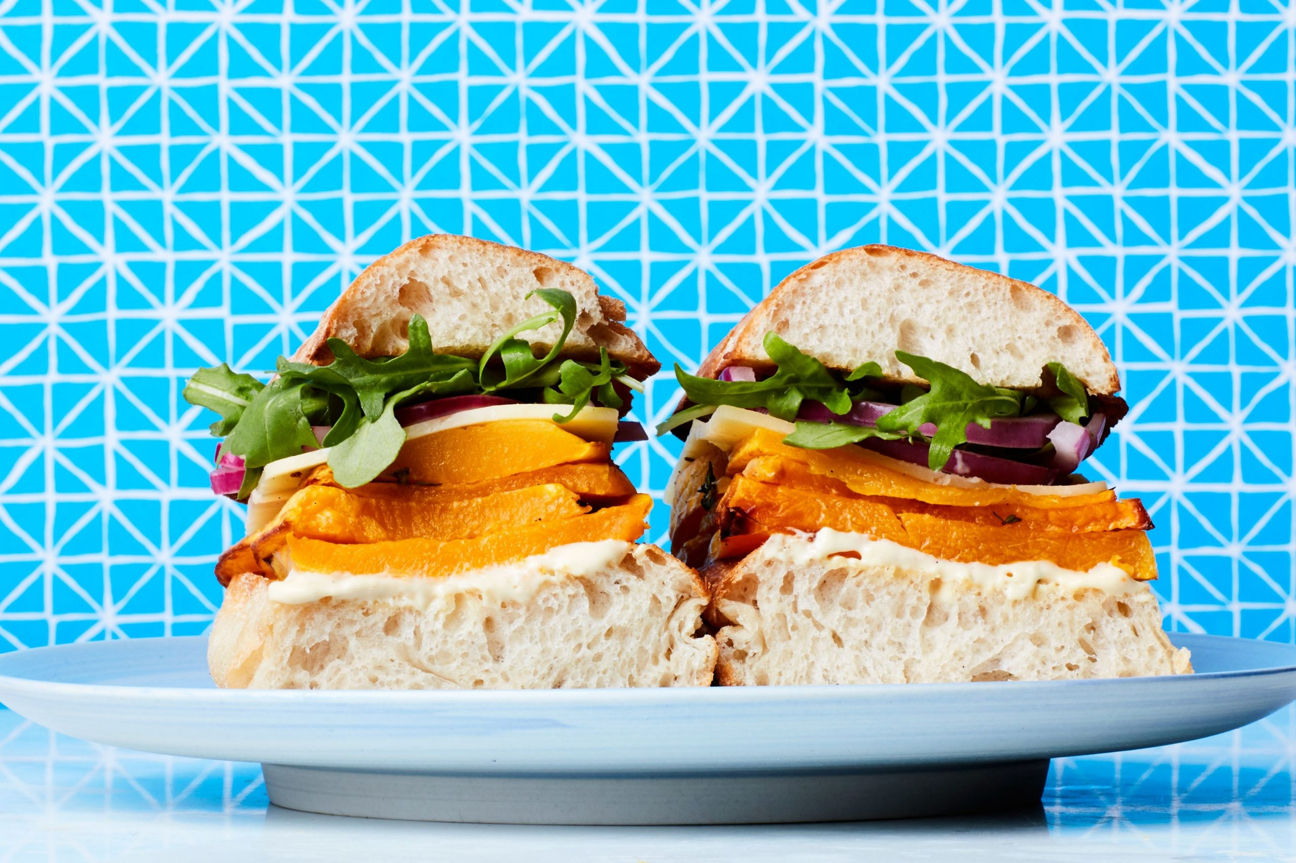 Butternut Squash Sandwich with Cheddar Cheese and Pickled Red Onion - Sandwich Recipes Epicurious