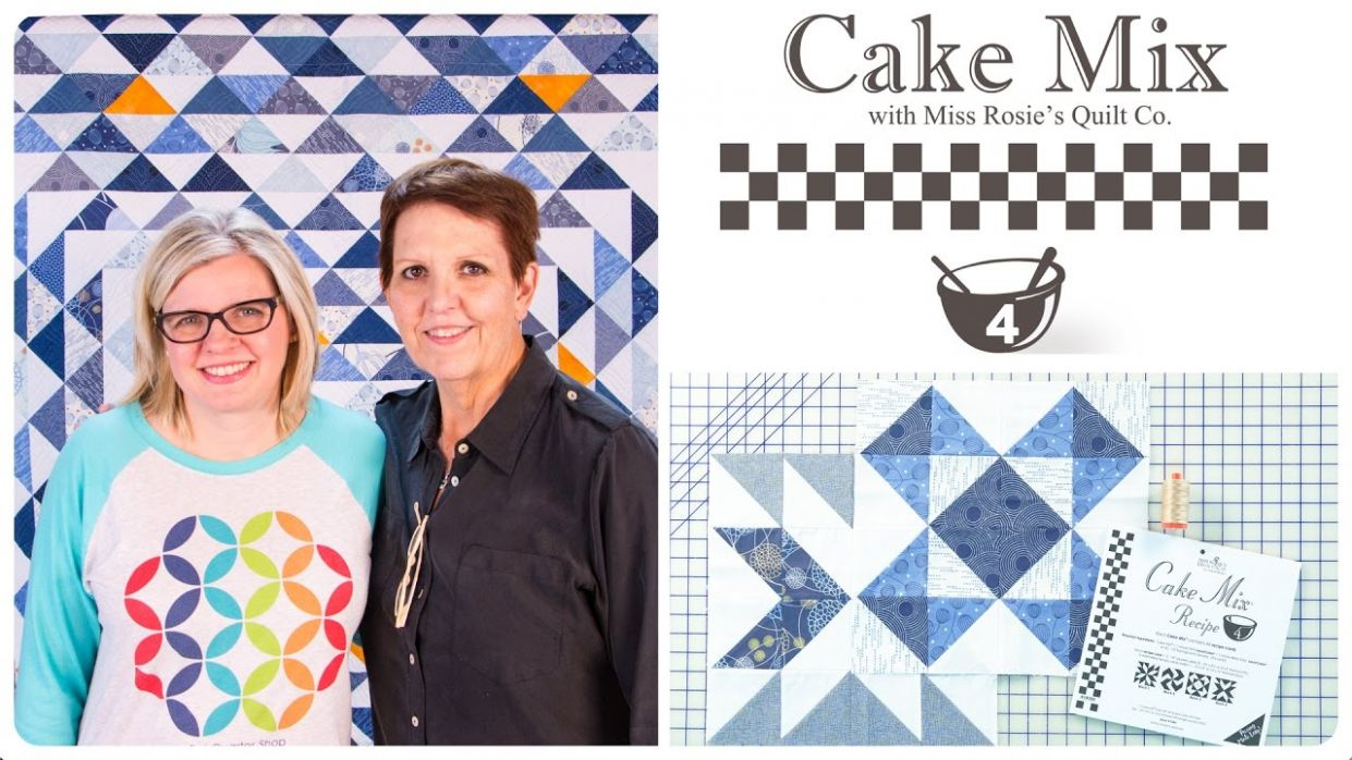 Cake Mix Recipe #11: Triangle Paper for Layer Cakes by Miss Rosie's Quilt  Co