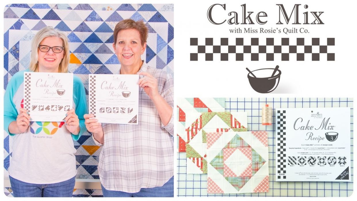 Cake Mix Recipes: Triangle Paper for Layer Cakes by Miss Rosie of Moda  Fabrics - Layer Cake Recipes Quilting