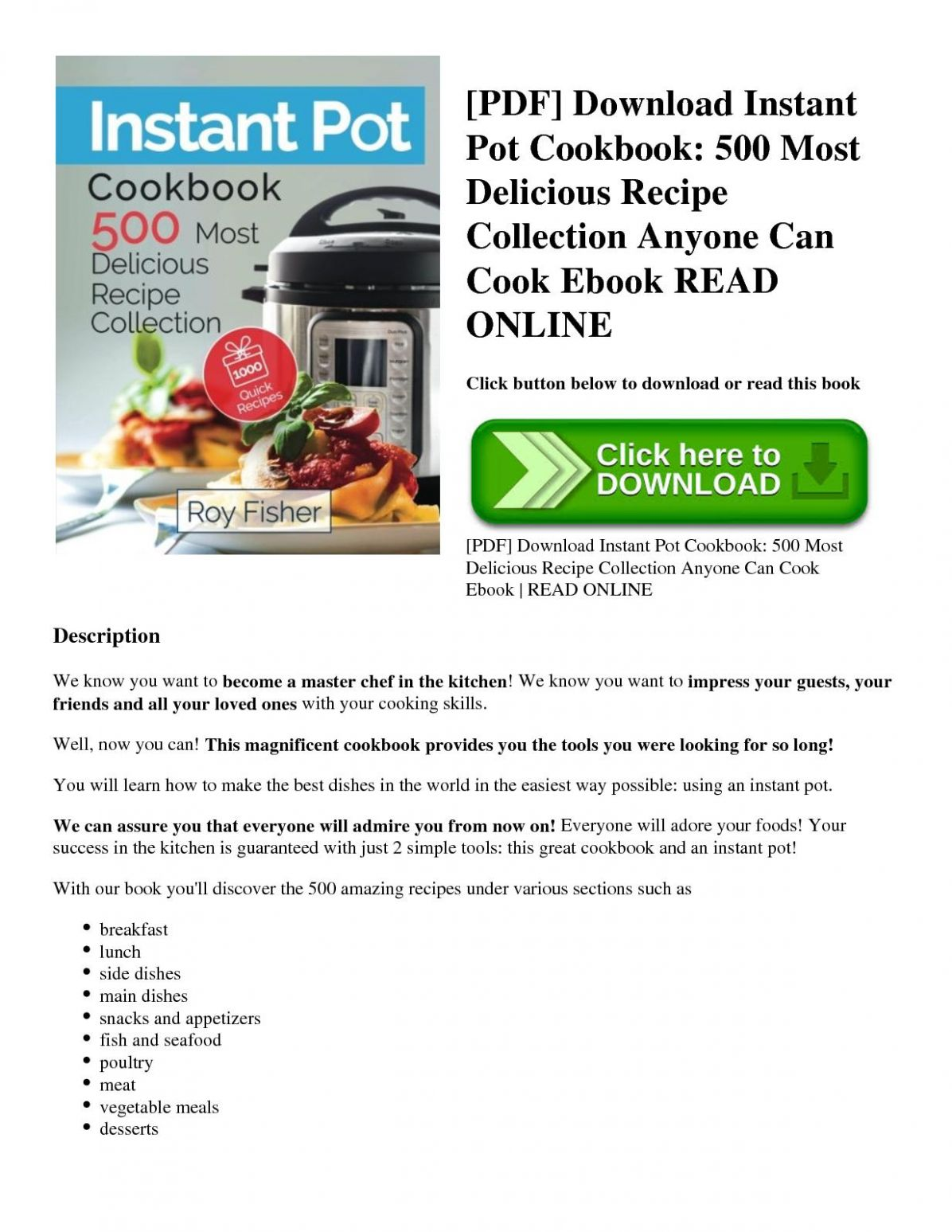 Calaméo - [Pdf] Download Instant Pot Cookbook 10 Most Delicious ..