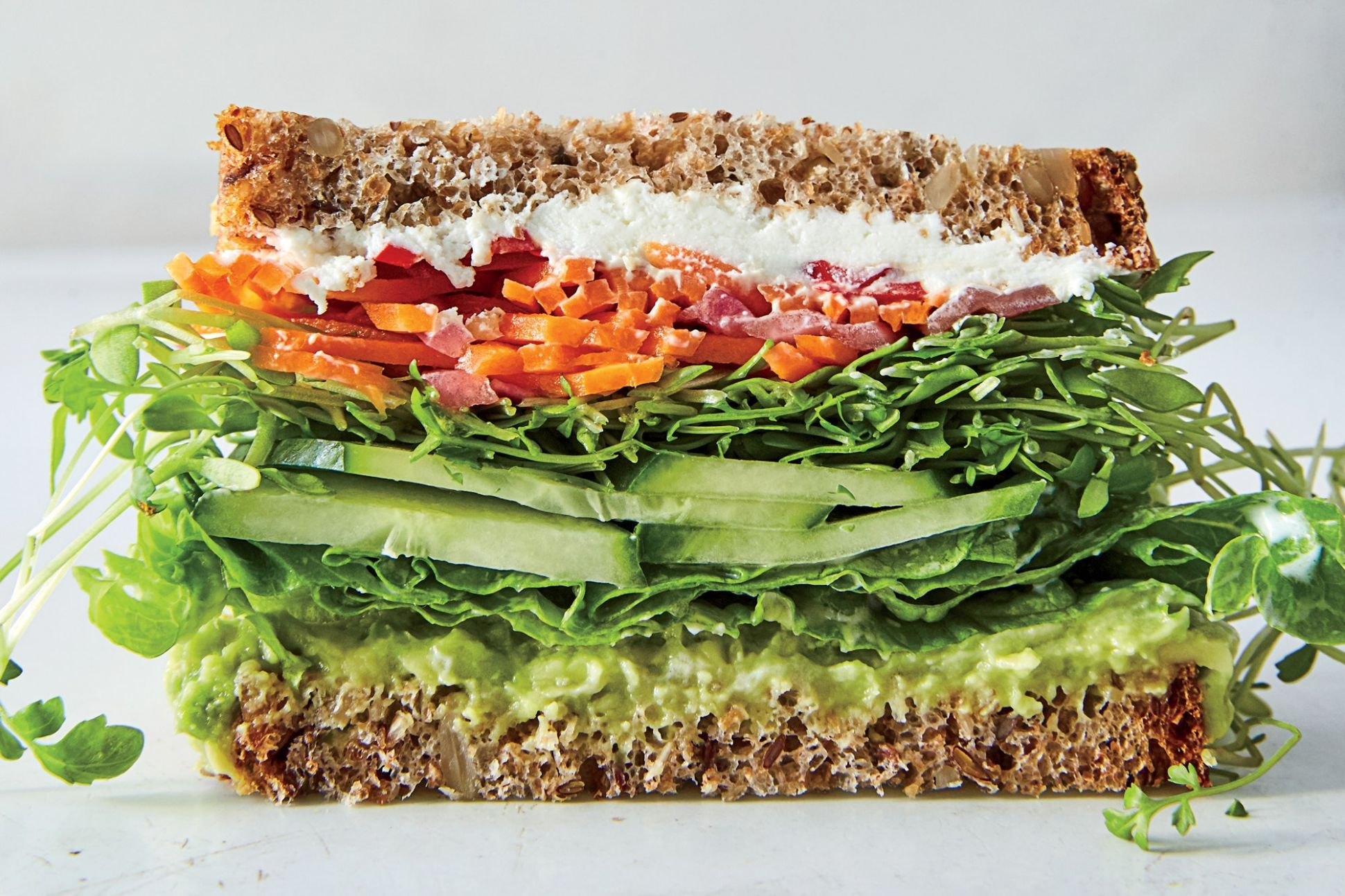 California Veggie Sandwich - Sandwich Recipes Epicurious