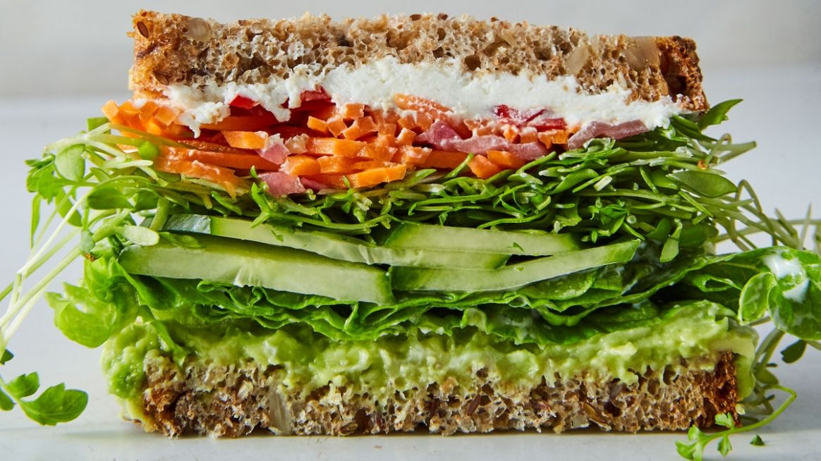 California Veggie Sandwich - Sandwich Recipes Vegetarian