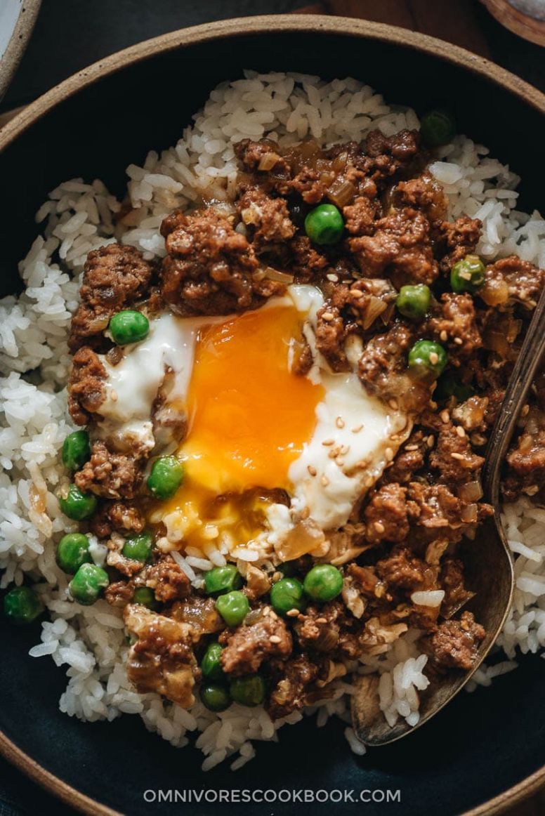 Cantonese Ground Beef Rice and Eggs (窝蛋牛肉) | Omnivore's Cookbook