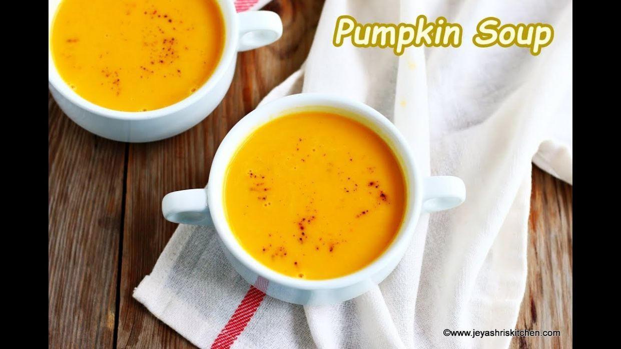 Carrot Pumpkin Soup recipe, Easy Soup recipes - Jeyashri's Kitchen