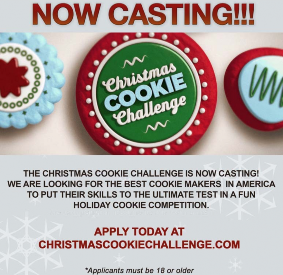 Casting Call for 12 Food Network Christmas Cookie Challenge ..