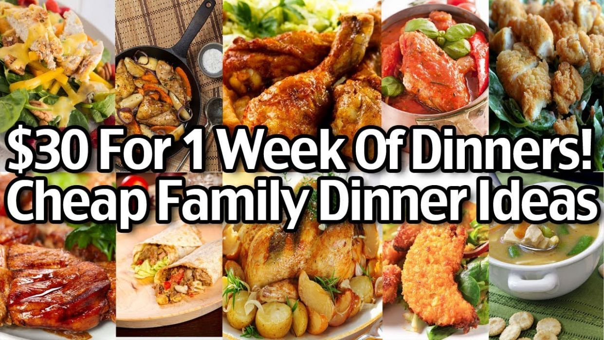 Cheap Family Dinner Ideas - $122 for 12 Week of Dinners! - Living on ..