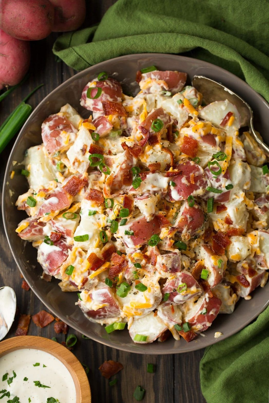 Cheddar Bacon Ranch Potato Salad - Recipes Potato Salad With Bacon