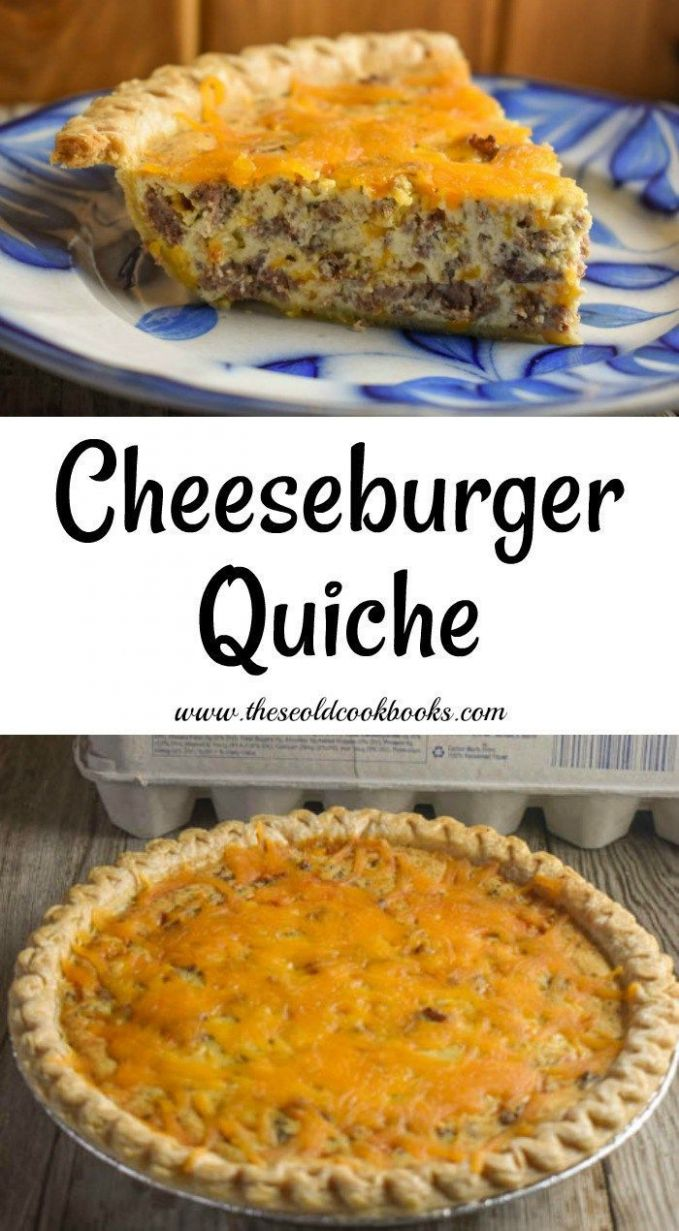 Cheeseburger Quiche Recipe - These Old Cookbooks | Quiche recipes ...