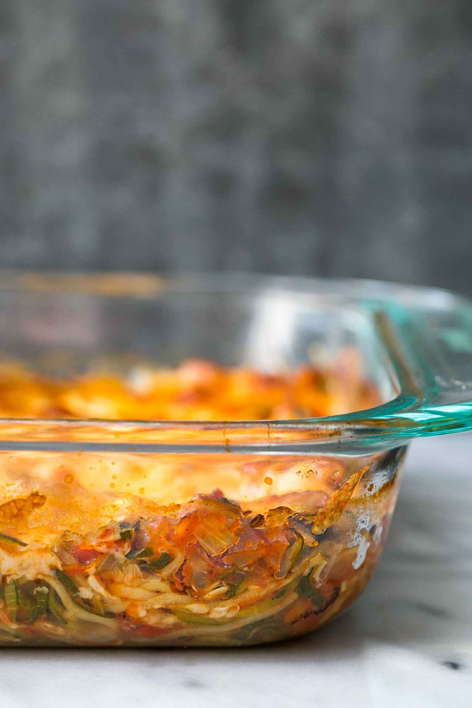 Cheesy Baked Zucchini Noodle Casserole - Cooking Zucchini Pasta In Oven