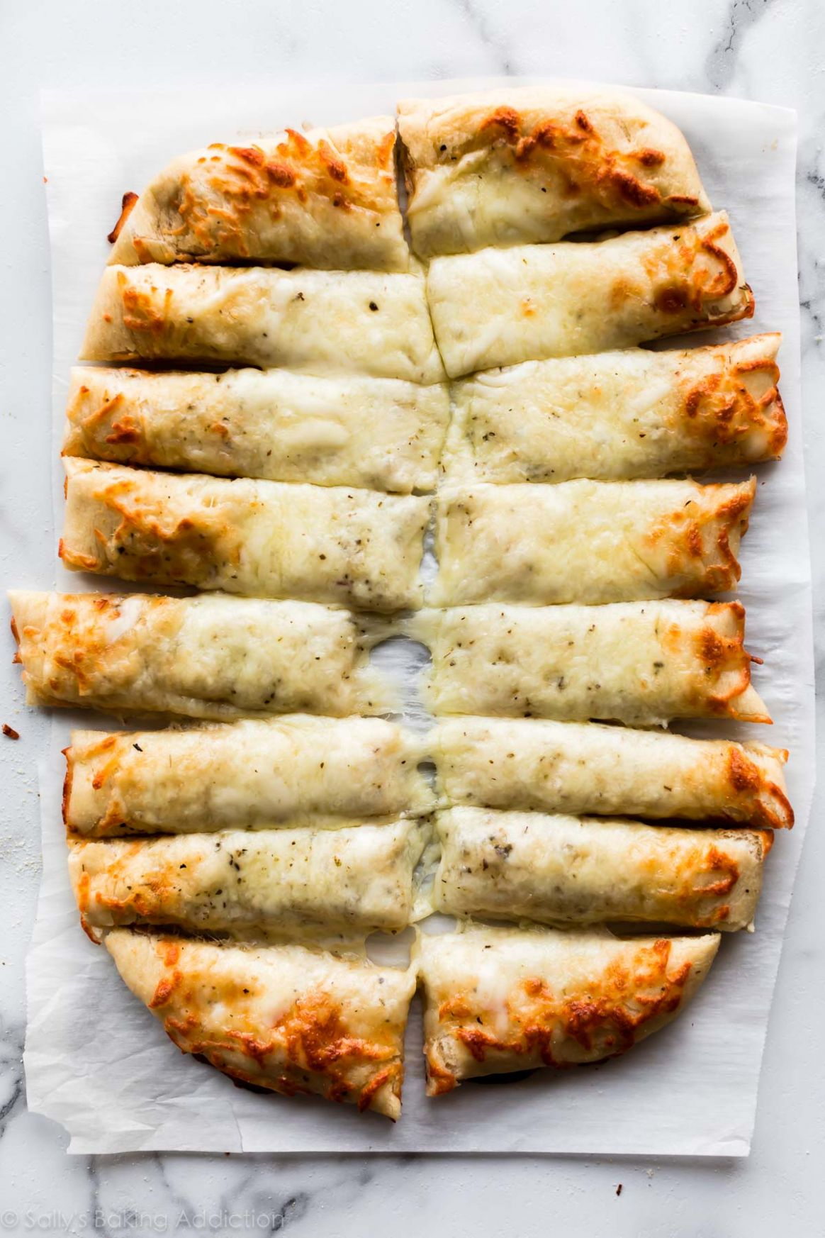 Cheesy Breadsticks Made from Pizza Dough - Pizza Recipes With Premade Dough