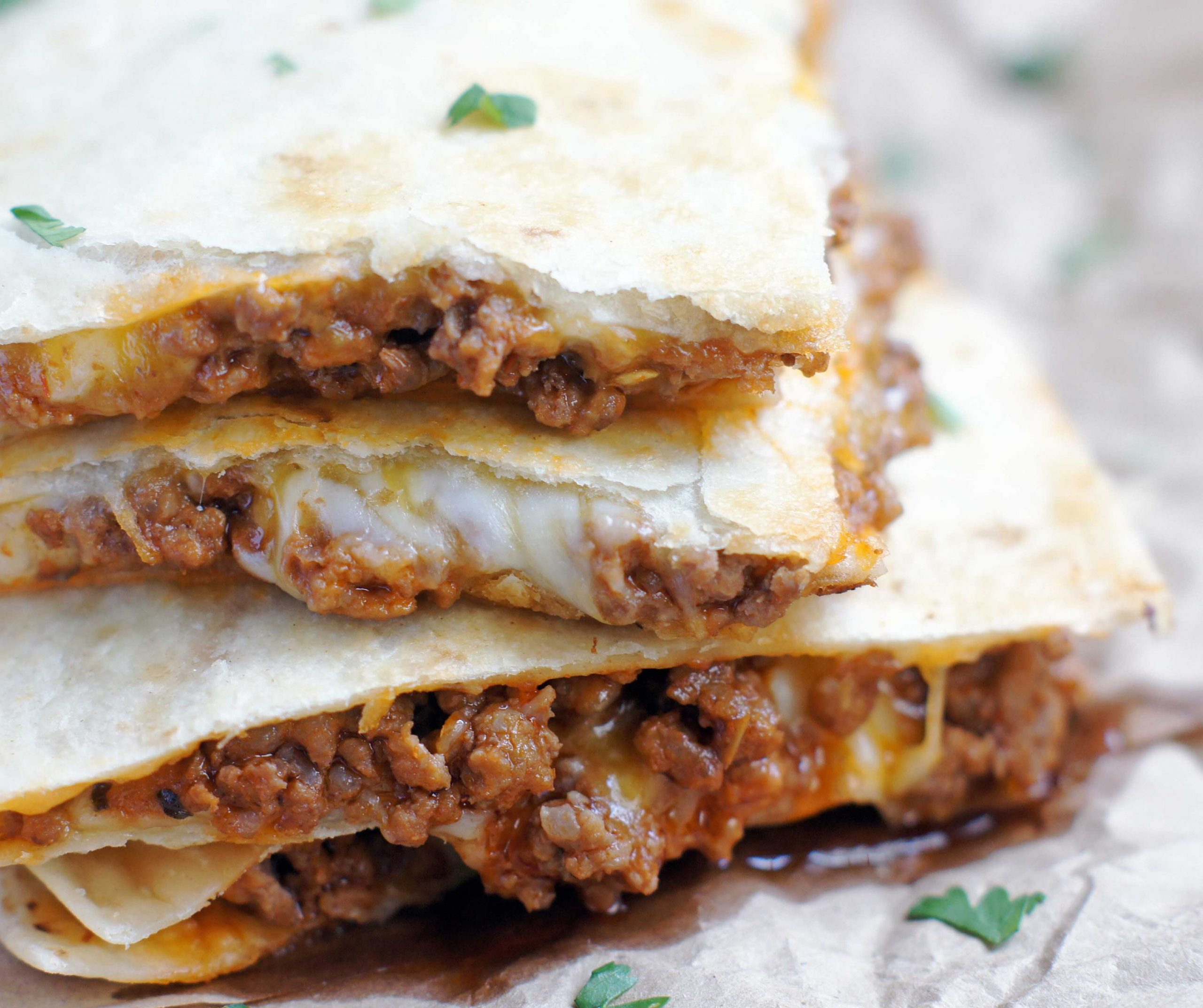 Cheesy Ground Beef Quesadillas – 12 Boys Baker