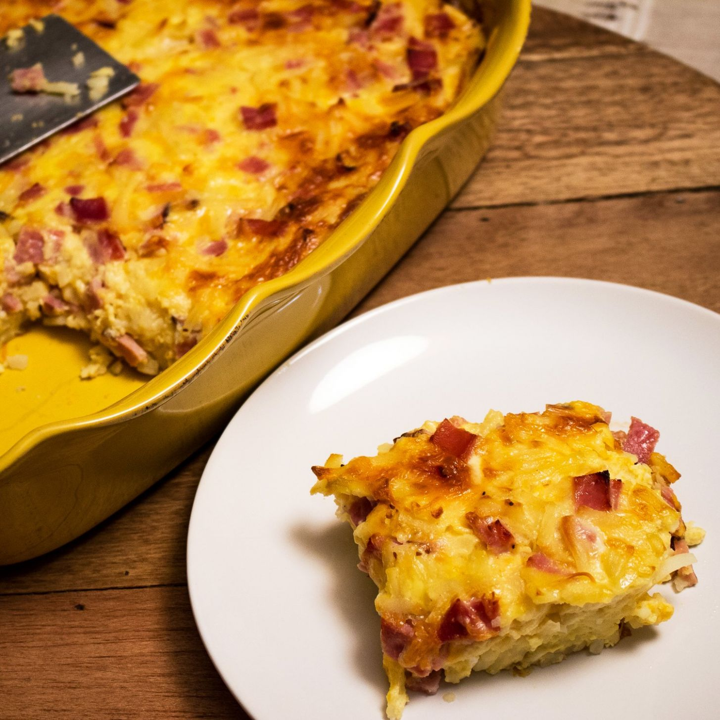 Cheesy Ham Hash Brown Egg Casserole - Recipe Egg Hash Brown Casserole