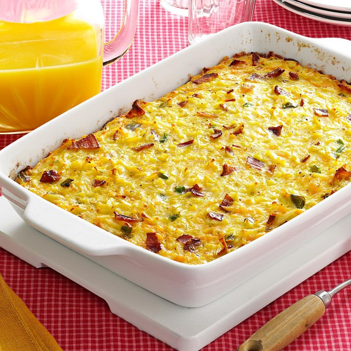 Cheesy Hash Brown Egg Casserole with Bacon - Recipe Egg Hash Brown Casserole
