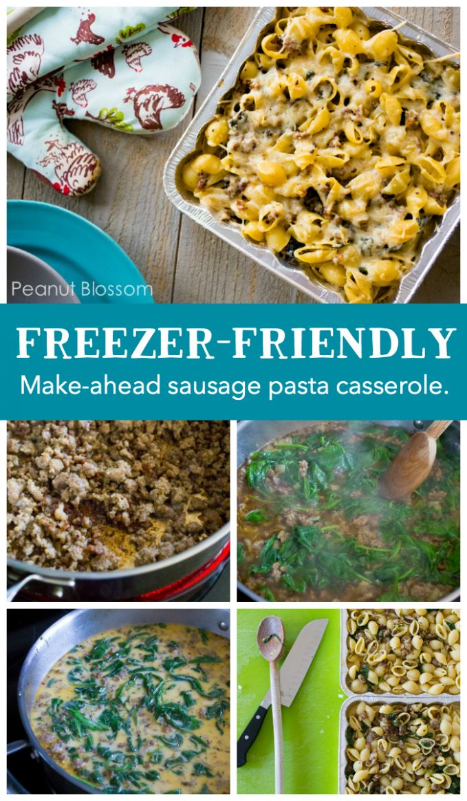 Cheesy Italian sausage and spinach casserole - Dinner Recipes Jimmy Dean Pork Sausage