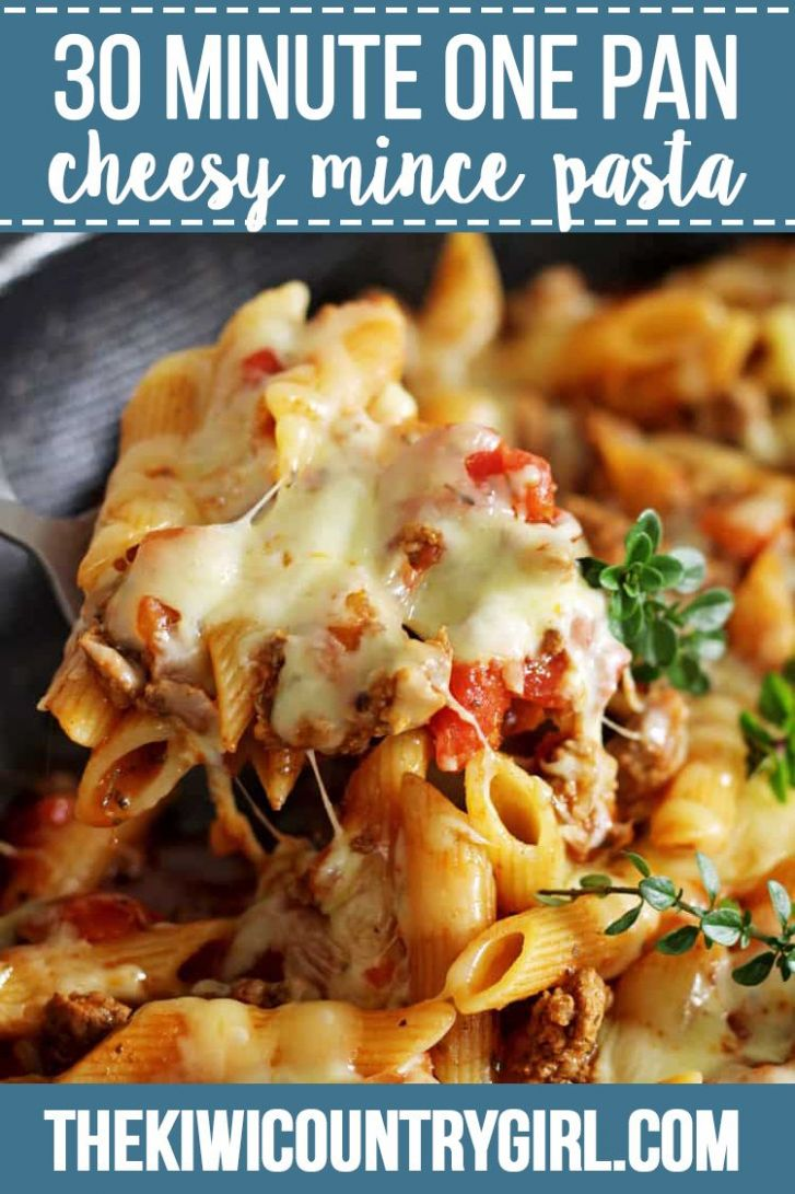 Cheesy One Pan Mince Pasta - Easy Recipes Mince