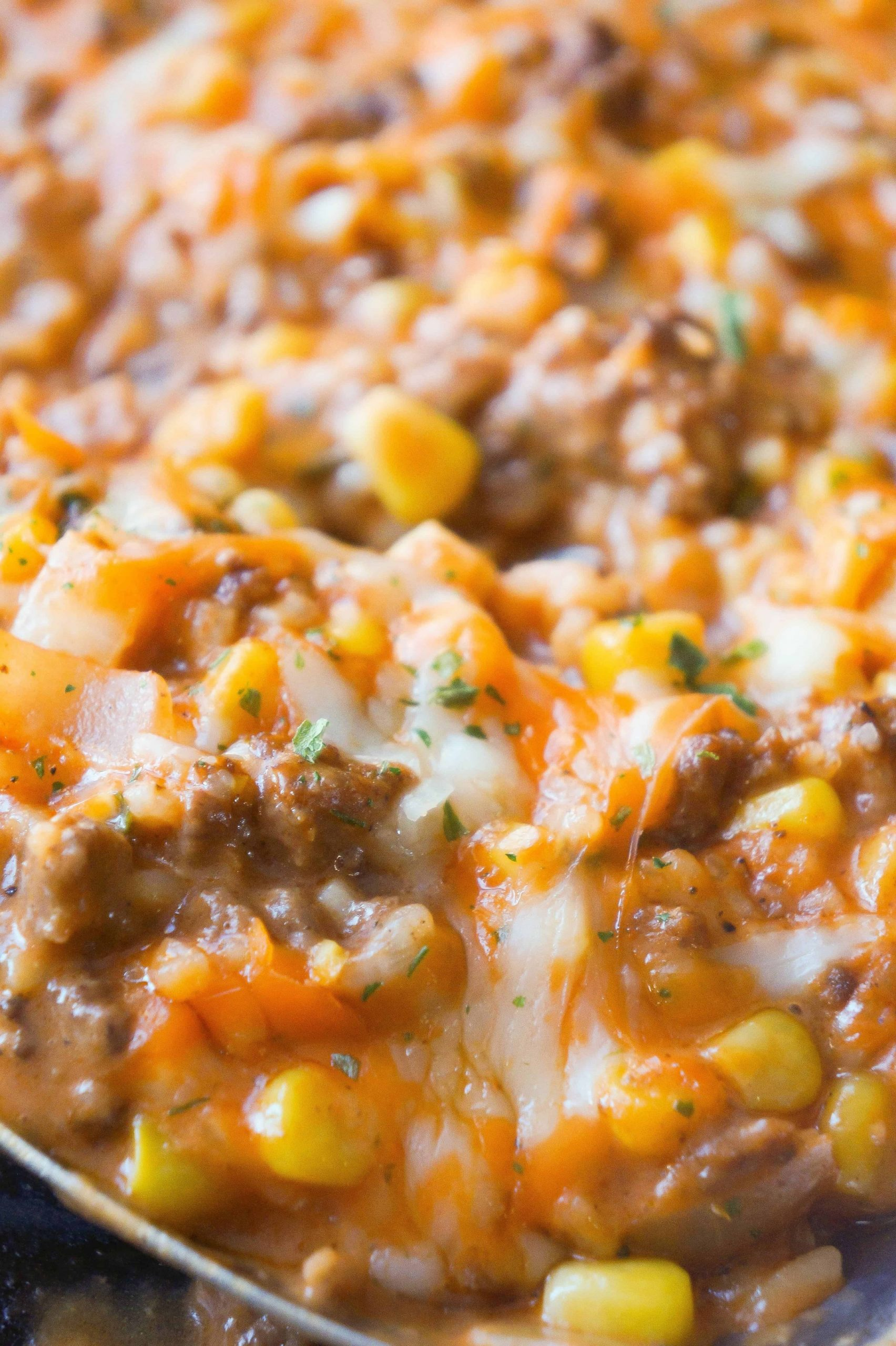 Cheesy Tomato Ground Beef and Rice - This is Not Diet Food - Simple Recipes Using Hamburger