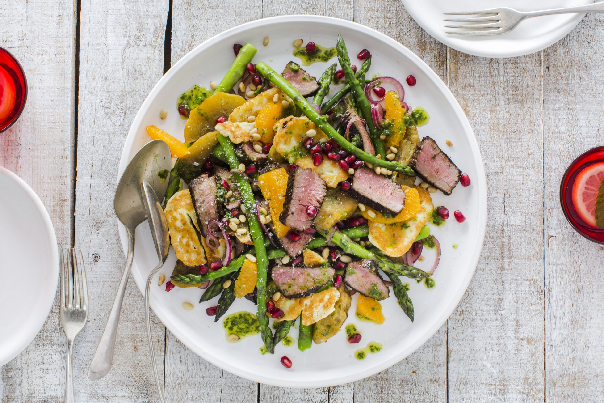 ChelseaWinter.co.nz Christmas lamb & haloumi salad - ChelseaWinter ...