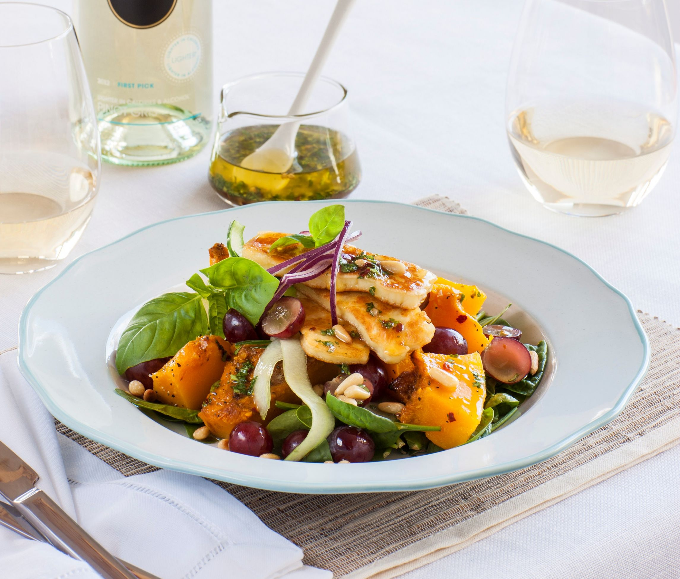 ChelseaWinter.co.nz Crispy haloumi salad with roasted pumpkin ..