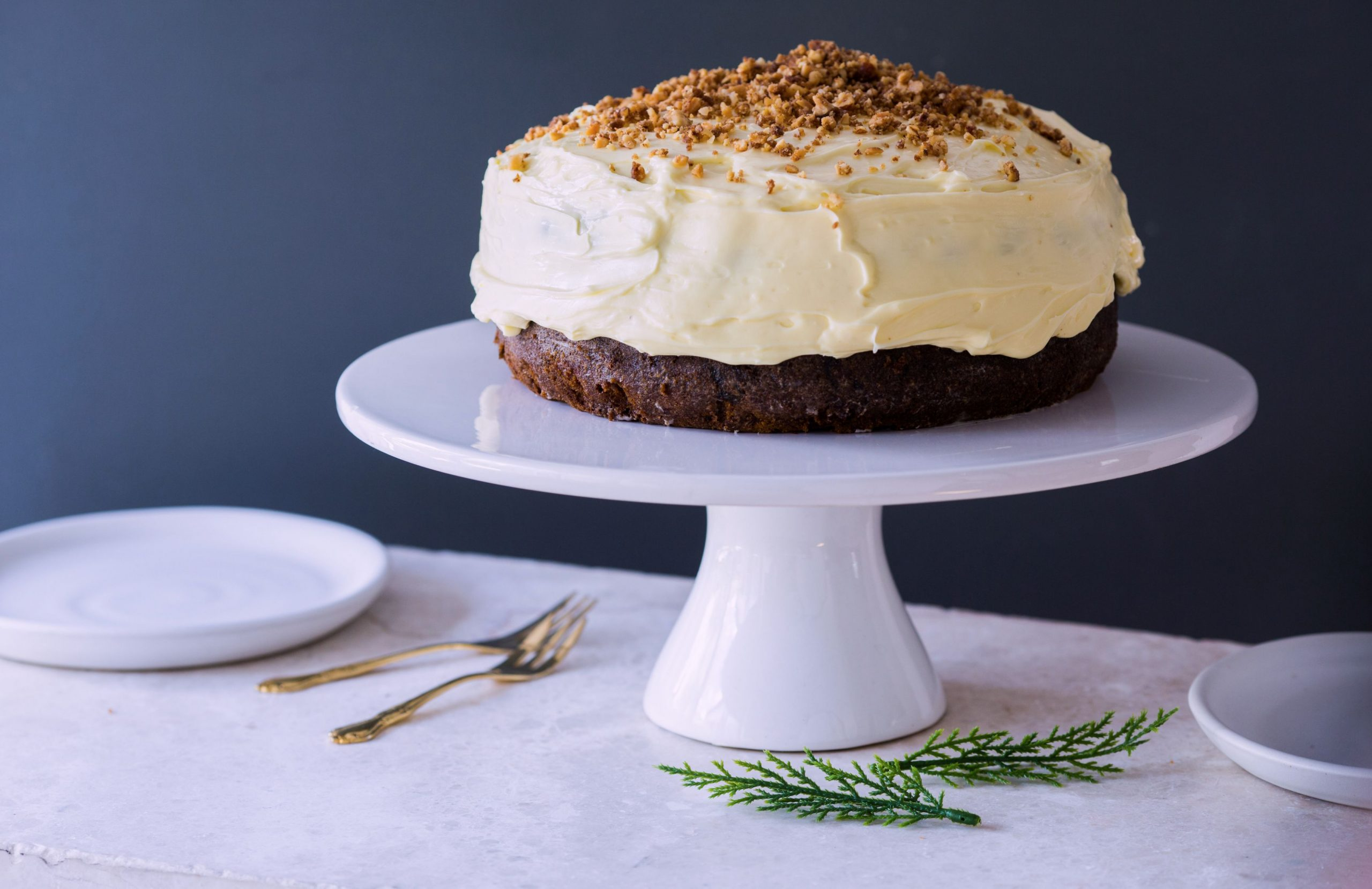 ChelseaWinter.co.nz Un-Christmas cake with toffee nut crunch ..