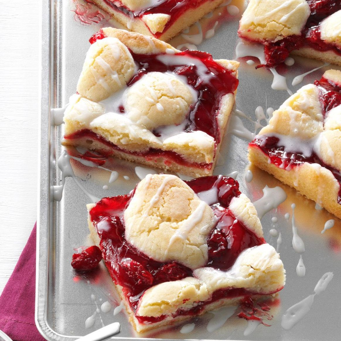 Cherry Bars - Dessert Recipes Made With Cherry Pie Filling