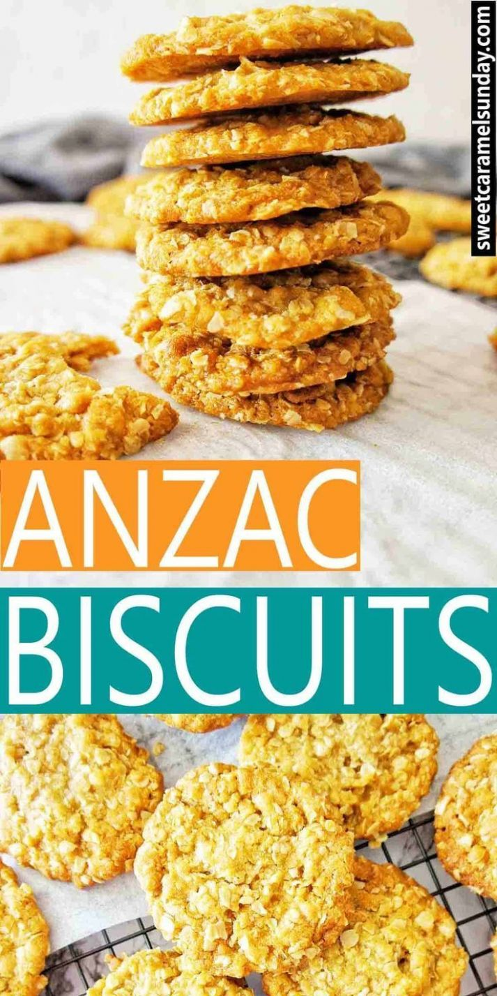 Chewy Anzac Biscuits made from an easy recipe with step by step ..