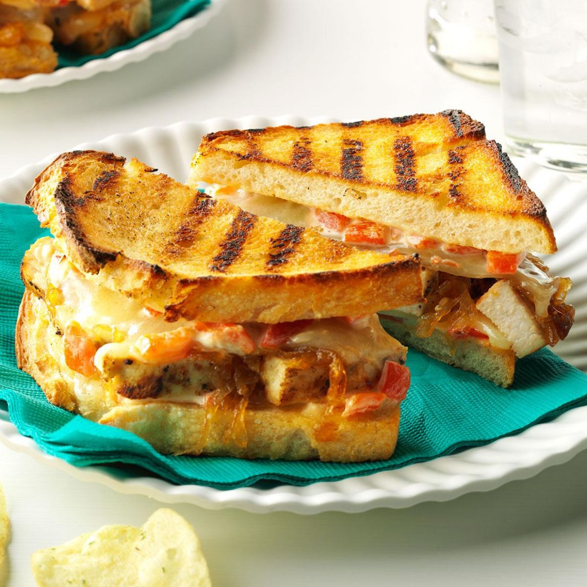 Chicken & Caramelized Onion Grilled Cheese - Sandwich Recipes Grilled Cheese