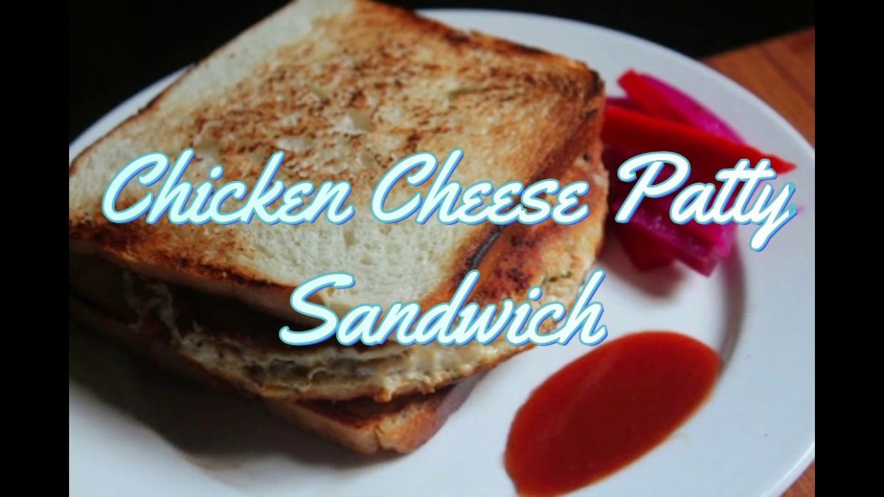 Chicken & Cheese Patty Sandwich Recipe - Yummy Tummy
