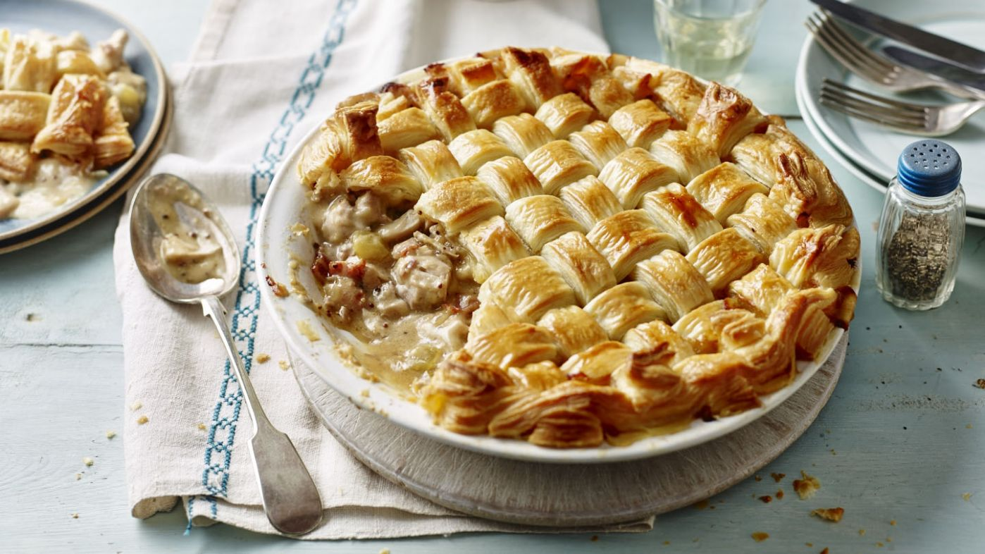 Chicken and bacon pie - Recipes Chicken Ham Pie