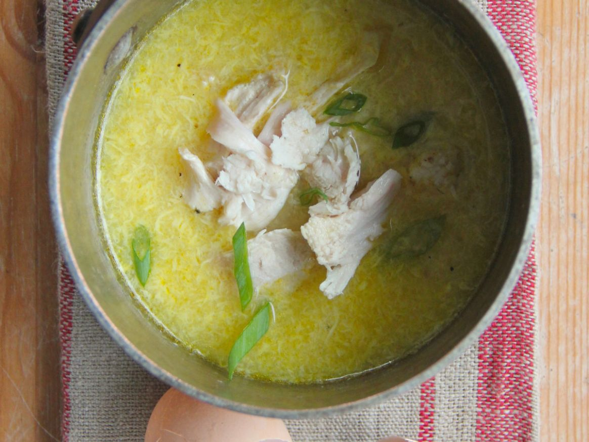 Chicken and Egg Drop Soup