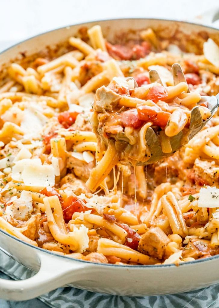 Chicken Bacon Pasta with Tomato Sauce