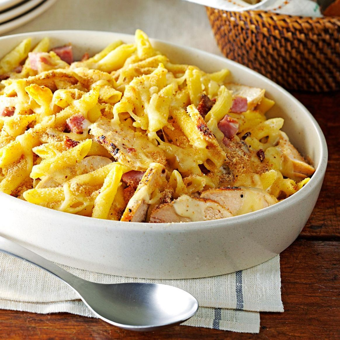 Chicken Cordon Bleu Pasta - Recipes Leftover Pasta